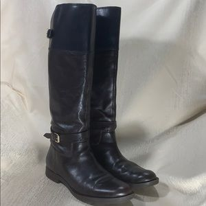 Enzo Angiolini 2 Tone Leather Riding Boots-Size 7M